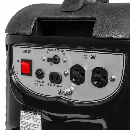 2000W Generator Gas-Portable Quiet RV Camping 4-Stroke, Black Perspective: bottom