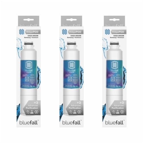 Samsung DA29-00020B 3PK Refrigerator Water Filter Compatible by BlueFall Perspective: bottom