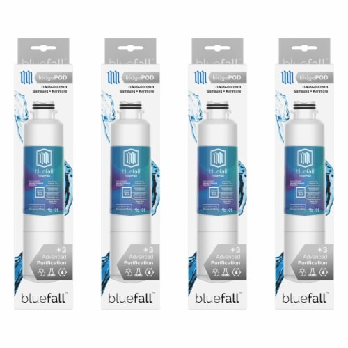 Samsung DA29-00020B 4PK Refrigerator Water Filter Compatible by BlueFall Perspective: bottom