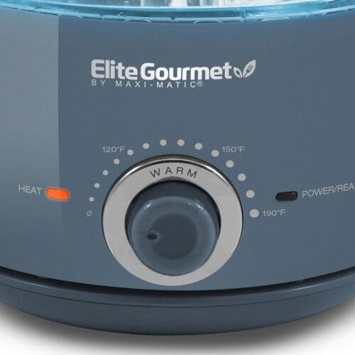 Elite Gourmet Electric Honeypot Glass Kettle Perspective: bottom