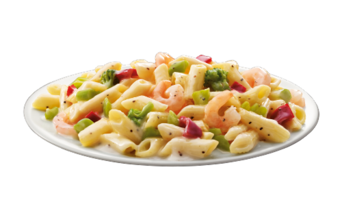 Michelina's Lean Gourmet Shrimp with Pasta & Vegetables Frozen Meal Perspective: bottom