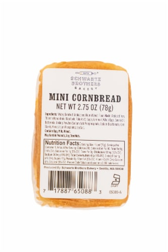 Schwartz Brothers Bakery Mini Cornbread Loaf Perspective: bottom
