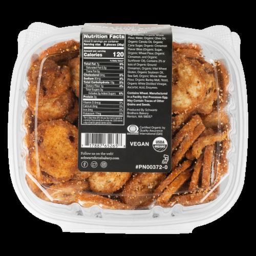 Schwartz Brothers Bakery Organic Cinnamon Sugar Bagel Chips Perspective: bottom