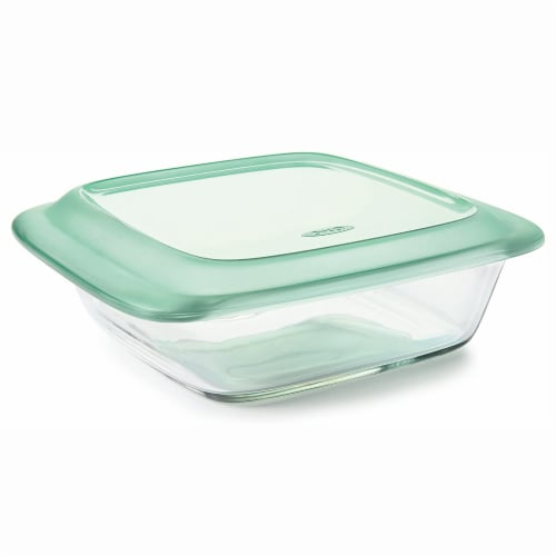 OXO Good Grips 14 Piece Clear Glass Bake, Serve, and Food Storage Set with Lids Perspective: bottom