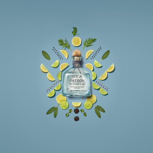 Roca Patron Silver Tequila Perspective: bottom
