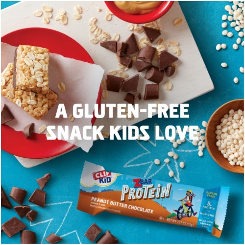 Clif Kid Z Peanut Butter Chocolate Protein Bars Perspective: bottom