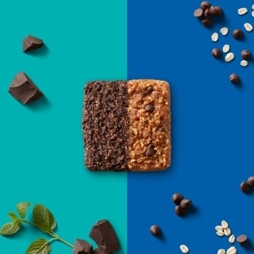 Clif Bar Duos Cool Mint Chocolate + Chocolate Chip Energy Bars Perspective: bottom