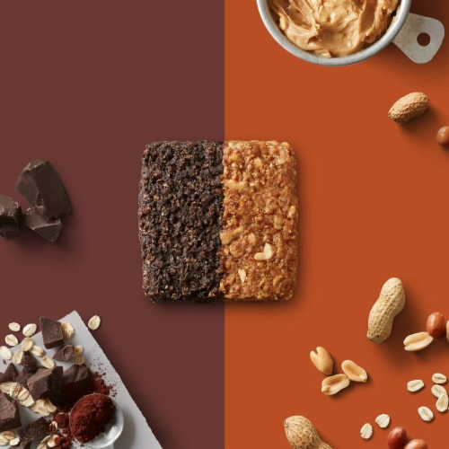 Clif Bar Duos Chocolate Brownie + Crunchy Peanut Butter Energy Bar Perspective: bottom