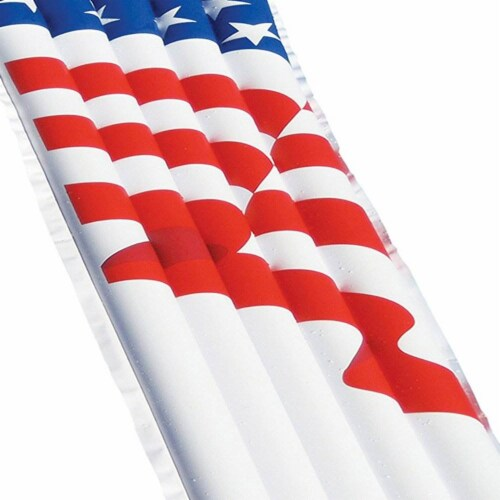 """Swimline 72"""" Inflatable American Flag Swimming Pool and Lake Float Raft 