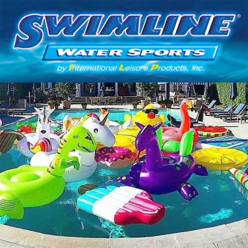 Swimline 90465 Nylon Inflatable Swimming Pool U-Seat Chair Float Lounger Perspective: bottom