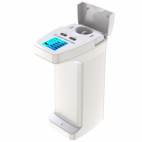 2 Pack Automatic Touchless Soap Dispenser High Capacity for Any Liquid Hand Sanitizer Perspective: bottom