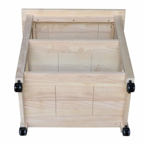 International Concepts Unfinished Microwave Kitchen Cart Perspective: bottom