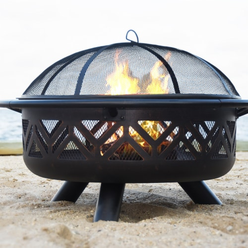 Endless Summer Geometric Design Fire Pit Perspective: bottom