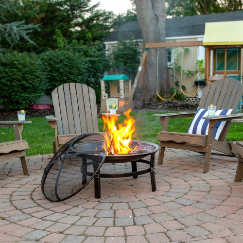 Endless Summer Brushed Copper Wood Burning Outdoor Fire Pit Perspective: bottom