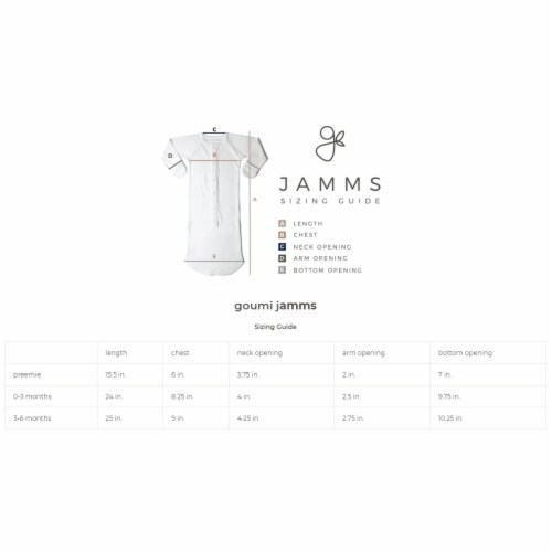 Goumikids Baby Sleeper Gown Organic Bamboo Sleepsack Pajama Clothes, 0-3M Cream Perspective: bottom