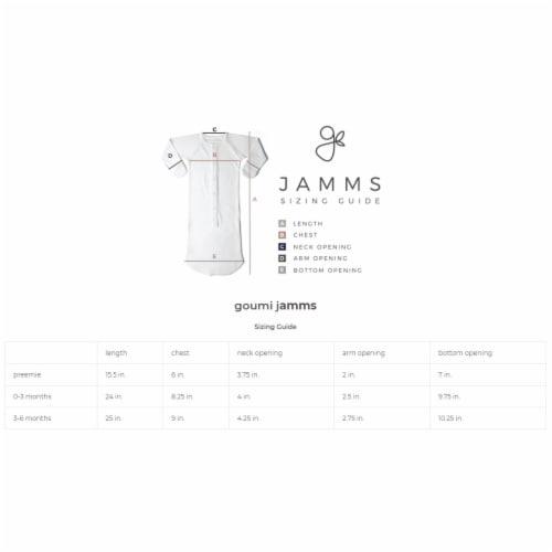 Goumikids Baby Sleeper Gown Organic Bamboo Sleepsack Pajama Clothes, 3-6M Cream Perspective: bottom