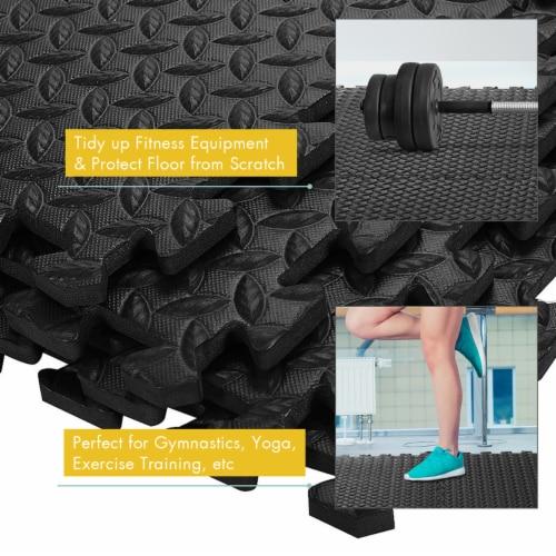 Costway 12Tiles 1/2'' Puzzle Exercise Floor Mats w/EVA Foam Interlocking Tiles (25''x25'') Perspective: bottom
