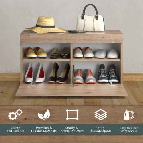 Costway Shoe Rack Storage Cabinet Storage Chest Organizer Entryway Bedroom Perspective: bottom