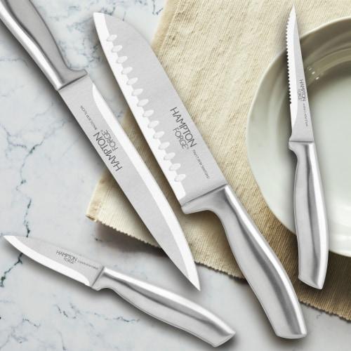 Hampton Forge Kobe Stainless Steel Knife Block Set Perspective: bottom