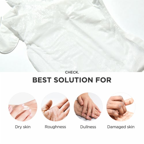 Pick Up & Go 3 Sheets Moisturizing Orange Hand Mask Perspective: bottom