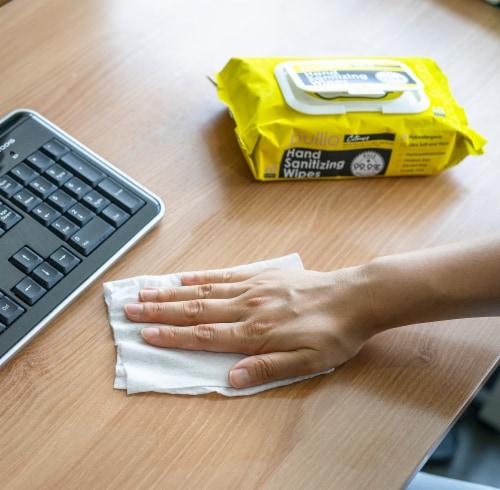 pullio - 5 Packs of Hand Sanitizer Citrus Wet Wipes 60ct -Antibacterial Hand  Wipes Perspective: bottom