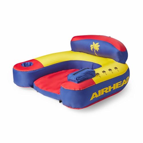 Airhead AHBL-3 Bimini Lounger II Inflatable Pool Lake Lounge Raft, (1 Person) Perspective: bottom