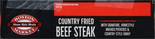 Boston Market Country Fried Beef Steak Frozen Meal Perspective: bottom