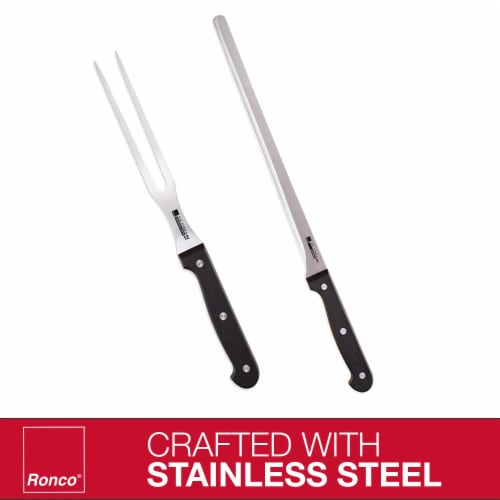 Ronco Carving Board Set, With Drip Catch Stainless Steel Carving Knife and Fork Perspective: bottom