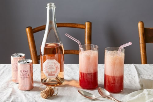 Sofia Mini Brut Rose Sparkling Wine Perspective: bottom