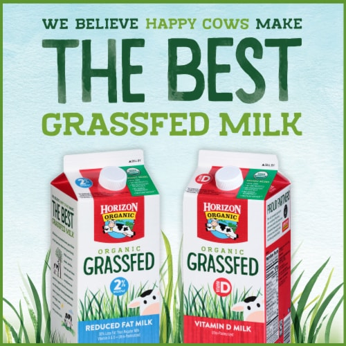 Horizon Organic Grassfed 2% Reduced Fat Milk Perspective: bottom