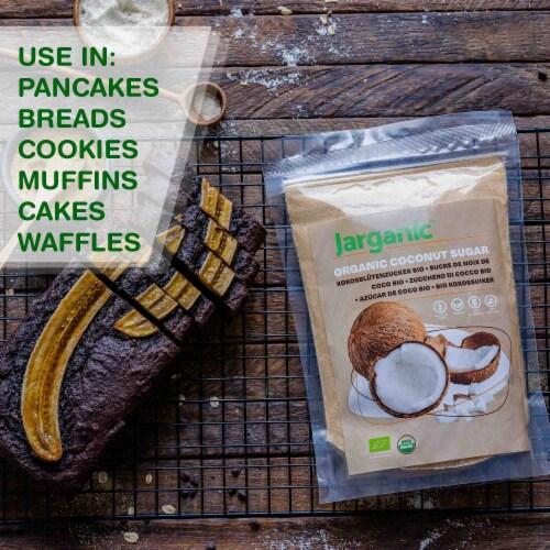 Organic Coconut Sugar 1 lb / 16 oz - Gluten-Free Vegan GMO-Free Paleo, Low Glycemic Index Perspective: bottom