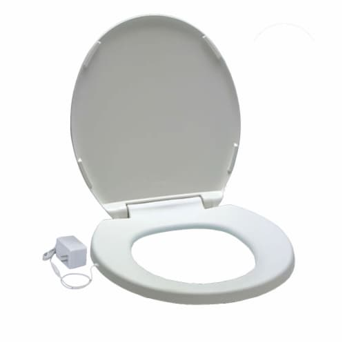 UltraTouch 01811 12 Watt 12 Volt UL Listed Round Bowl White Heated Toilet Seat Perspective: bottom
