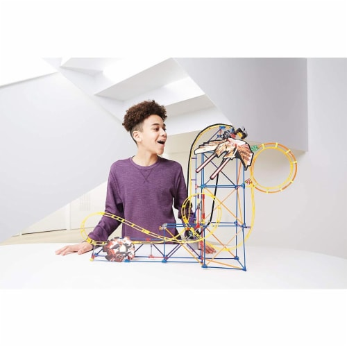 K'NEX Thrill Rides - Space Invasion Roller Coaster Building Set with Ride It! App - 438 Piece Perspective: bottom