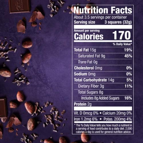 Ghirardelli Intense Dark 72% Cacao Twilight Delight Dark Chocolate Perspective: bottom