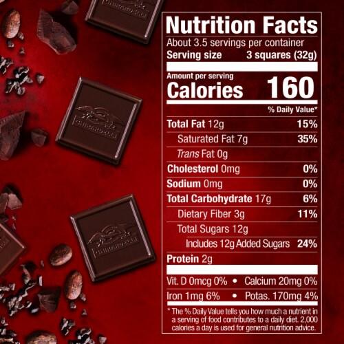 Ghirardelli 60% Cacao Evening Dream Dark Chocolate Perspective: bottom