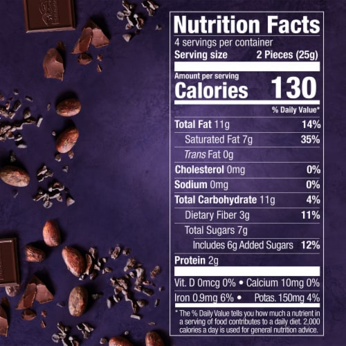 Ghirardelli Intense Dark 72% Cacao Chocolate Bar Perspective: bottom
