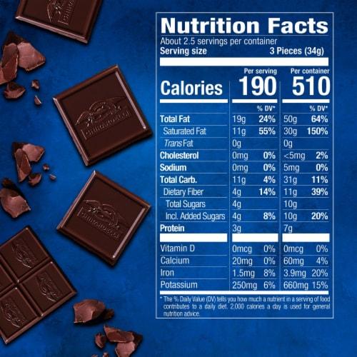 Ghirardelli Intense Dark 86% Cacao Midnight Reverie Chocolate Bar Perspective: bottom