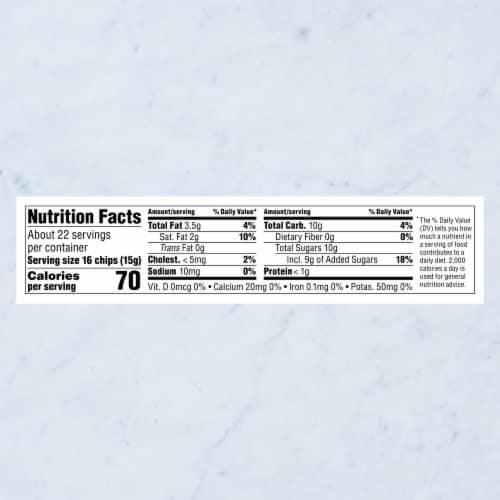 Ghirardelli Milk Chocolate Premium Baking Chips Perspective: bottom