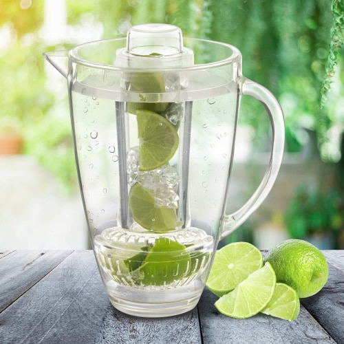 Eternal Kitchen Ideas Fruit Infusion Flavor Pitcher,  94 oz Clear Perspective: bottom