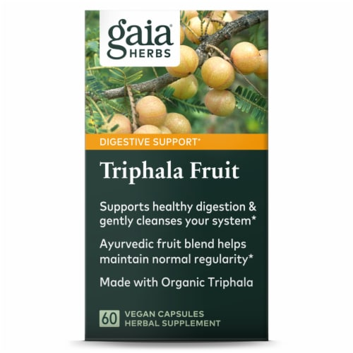 Gaia Herbs Triphala Fruit Dietary Supplement Perspective: bottom