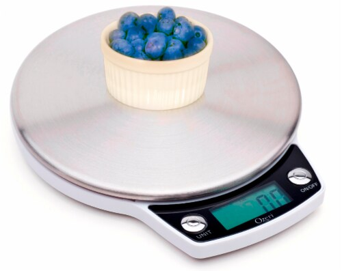 Ozeri Precision Pro Stainless-Steel Digital Kitchen Scale with Oversized Weighing Platform Perspective: bottom