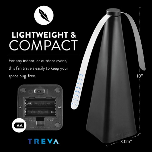 Treva Bug Repellent Fan, Non-Toxic, Battery Powered, 2 Pack Perspective: bottom