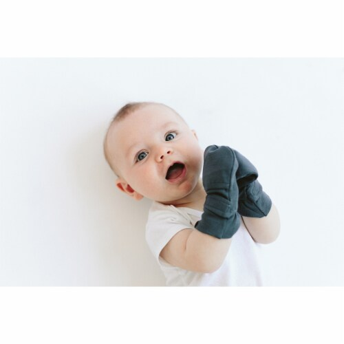 Goumikids Soft Organic Stay On No Scratch Baby Infant Mittens, 3-6M Midnight Perspective: bottom