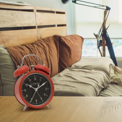 La Crosse Technology Twin Bell Alarm Clock - Red Perspective: bottom