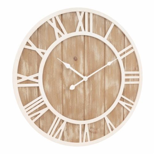 La Crosse Technology Wood Wall Clock - Off White Perspective: bottom