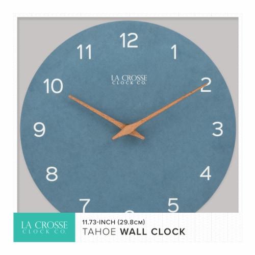 La Crosse Technology Paper Wall Clock - Blue Perspective: bottom