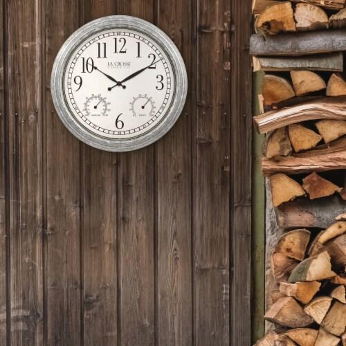 La Crosse Technology Silas Indoor/Outdoor Wall Clock Perspective: bottom