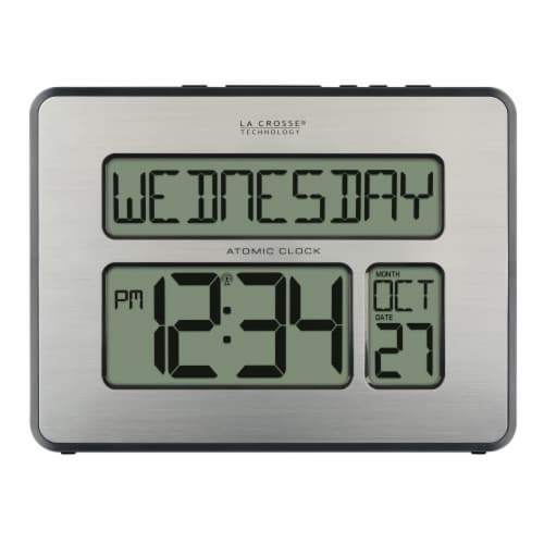 La Crosse Clock Company Atomic Digital Clock Perspective: bottom