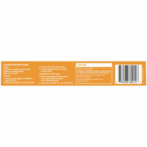 Boca Original Spicy Chick'n Veggie Patties Perspective: bottom
