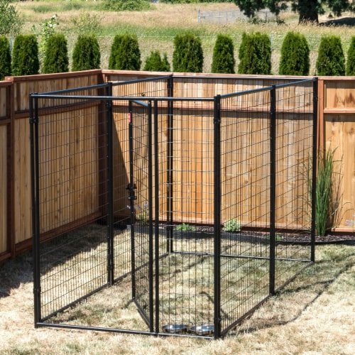Lucky Dog Large Modular Welded Wire Box Indoor Outdoor Dog Kennel, 10x5x6 Feet Perspective: bottom